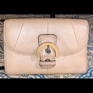 Coach Leather Trifold Buckle Wallet